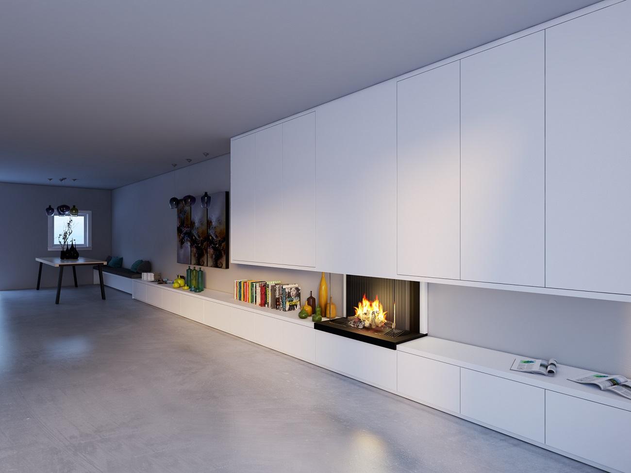 In deze moderne exclusieve slaapkamer loop je door de inloopkast
